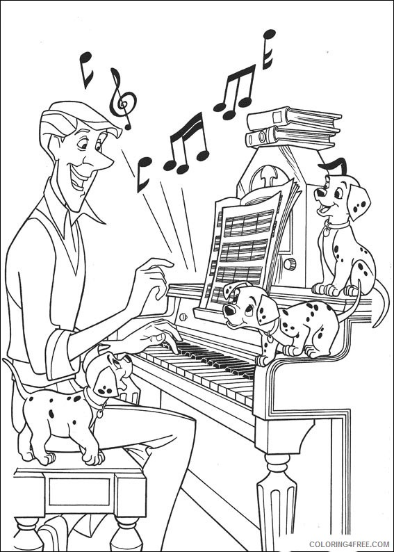 101 Dalmatians Coloring Pages Printable Coloring4free