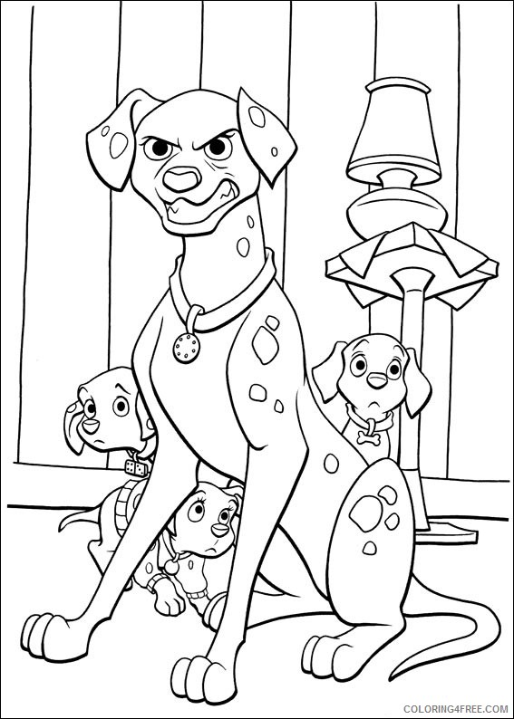 102 Dalmatians Coloring Pages Printable Coloring4free