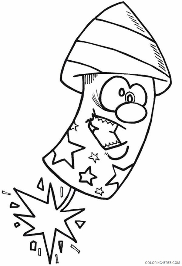 4th of july coloring pages american fireworks Coloring4free