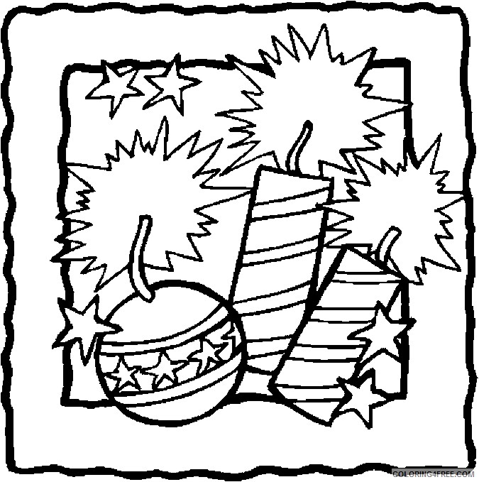 4th of july coloring pages fireworks Coloring4free