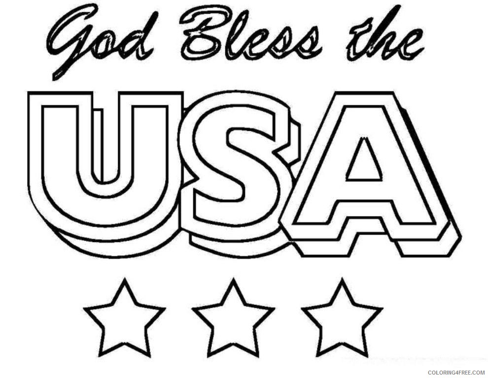 4th of july coloring pages god bless usa Coloring4free