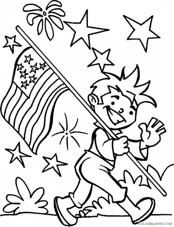 4th of july coloring pages patriotic boys Coloring4free