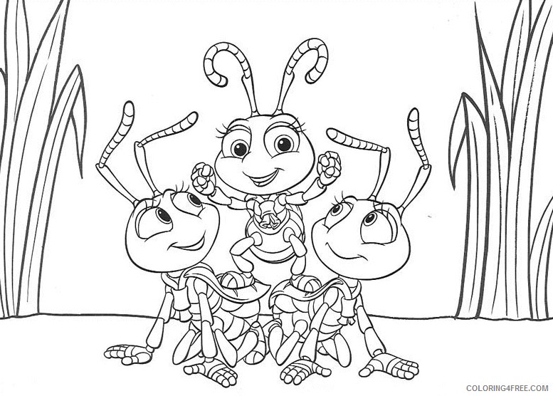 A Bugs Life Coloring Pages Printable Coloring4free