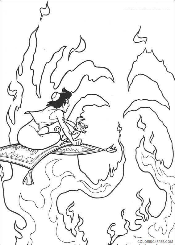 Aladdin Coloring Pages Printable Coloring4free
