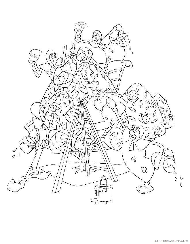 Alice in Wonderland Coloring Pages Printable Coloring4free