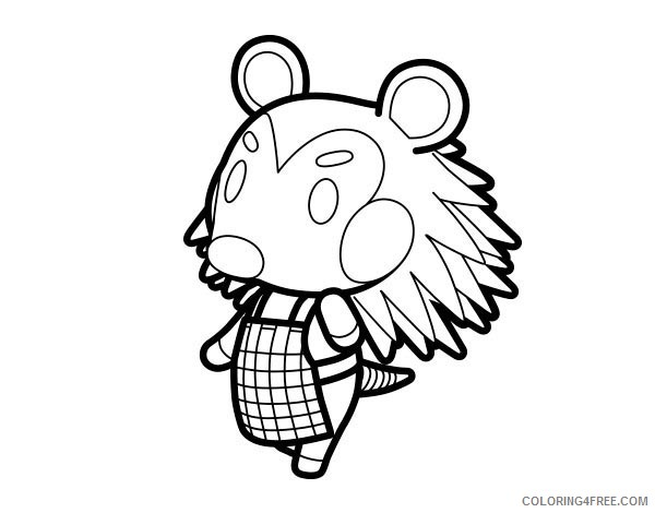 Animal Crossing Coloring Pages Printable Coloring4free
