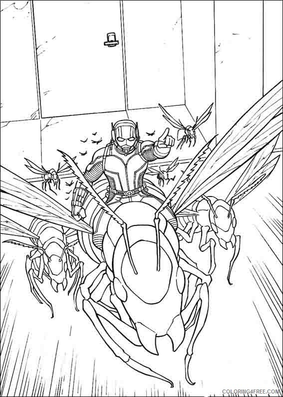 Ant Man Coloring Pages Printable Coloring4free