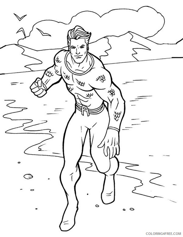 Aquaman Coloring Pages Printable Coloring4free