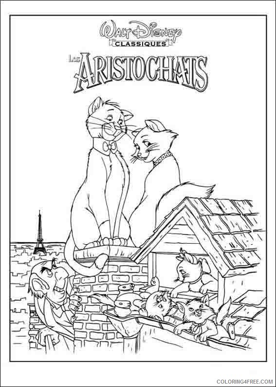Aristocats Coloring Pages Printable Coloring4free