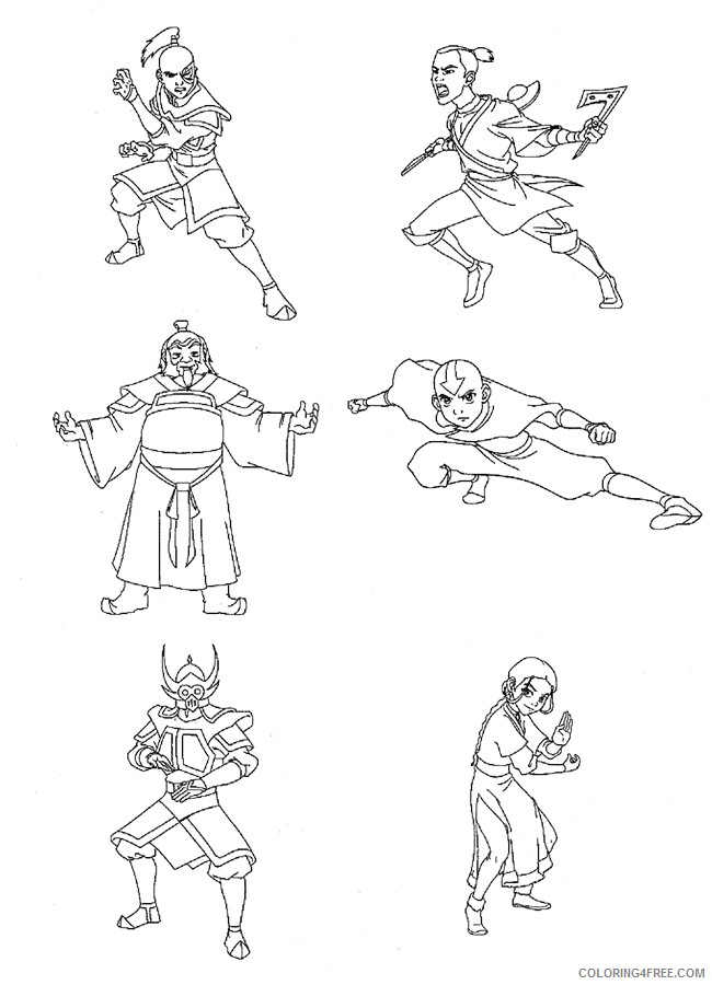 Avatar The Last Airbender Coloring Pages Printable Coloring4free Coloring4free Com