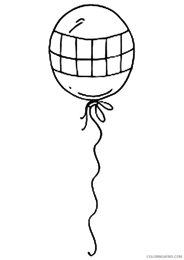 Balloon Coloring Pages Printable Coloring4free