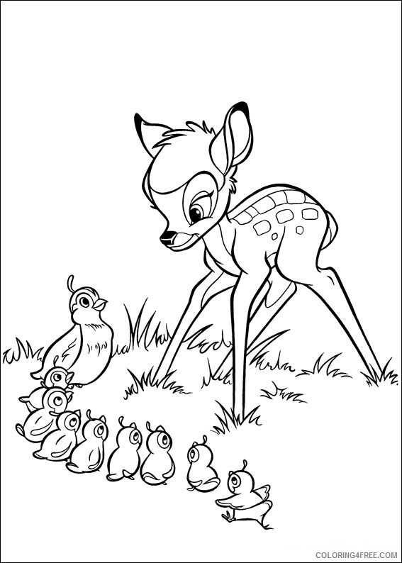 Bambi Coloring Pages Printable Coloring4free