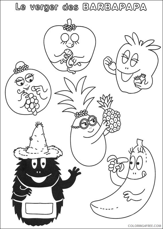 Barbapapa Coloring Pages Printable Coloring4free