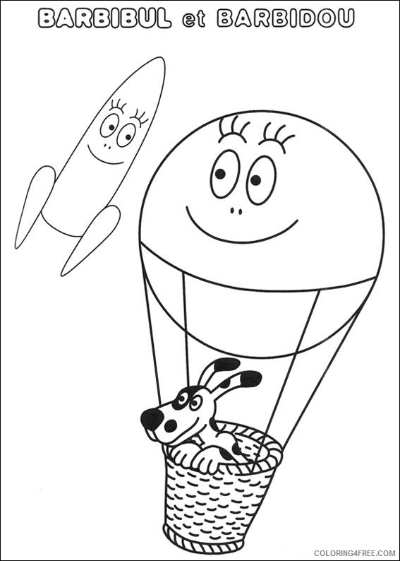 Barbapapa Coloring Pages Printable Coloring4free