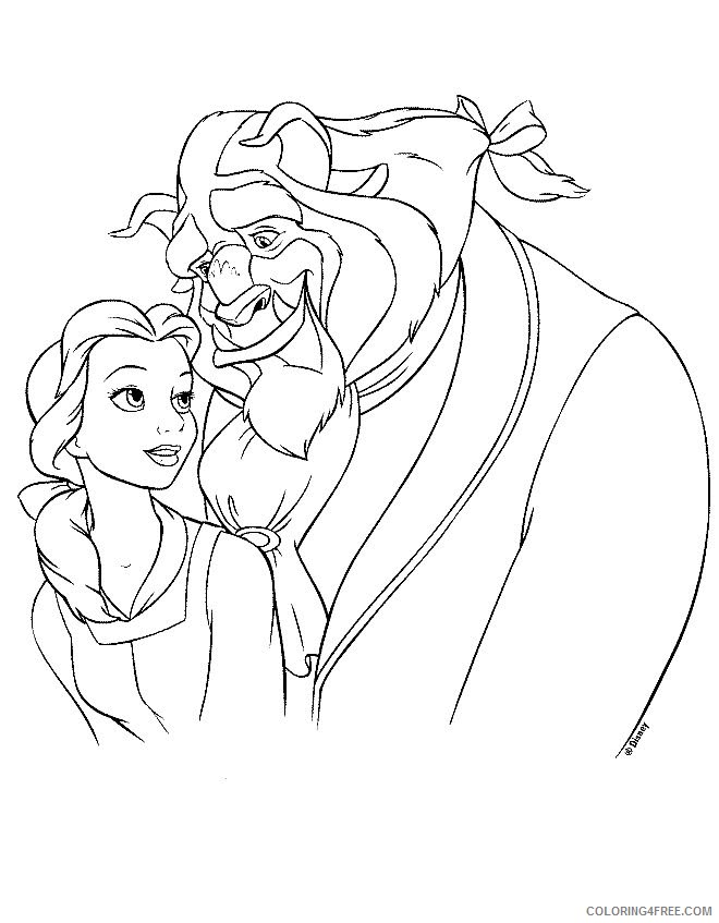 Beauty and the Beast Coloring Pages Printable Coloring4free