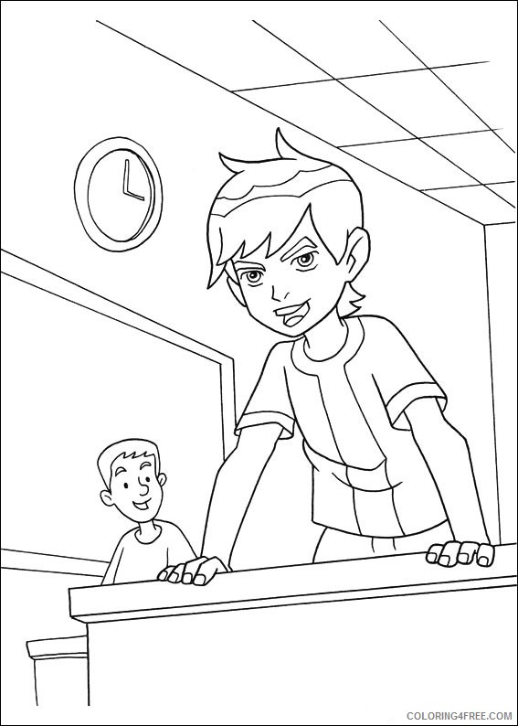 Ben 10 Coloring Pages Printable Coloring4free