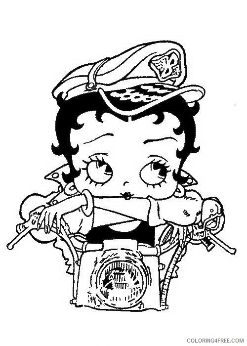 Betty Boop Coloring Pages Printable Coloring4free