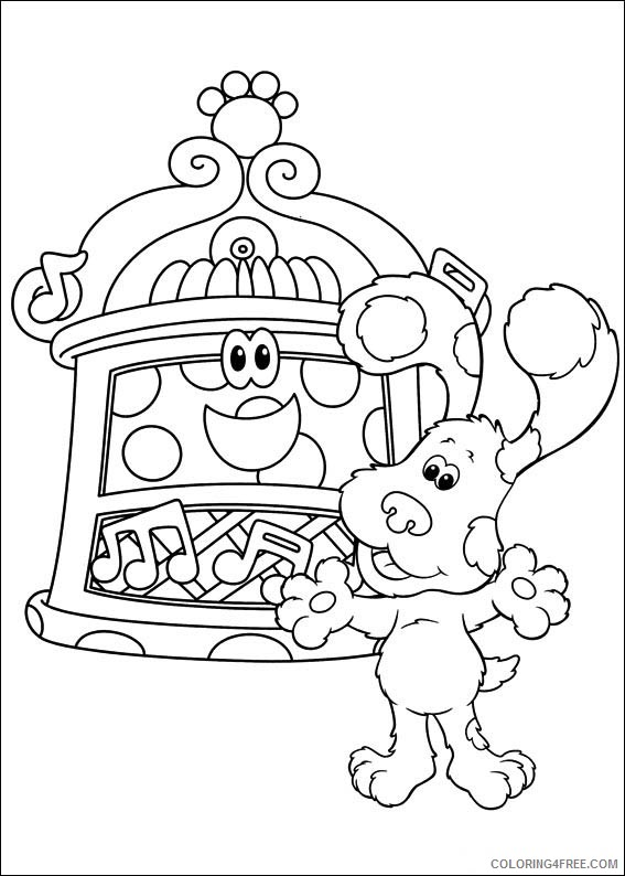 Blues Clues Coloring Pages Printable Coloring4free