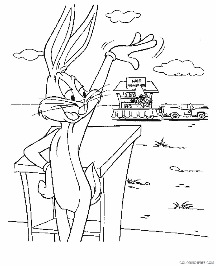 Bugs Bunny Coloring Pages Printable Coloring4free
