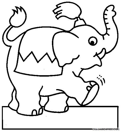 Circus Coloring Pages Printable Coloring4free