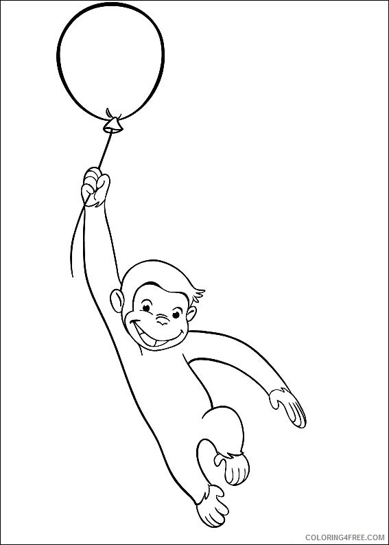 Curious George Coloring Pages Printable Coloring4free
