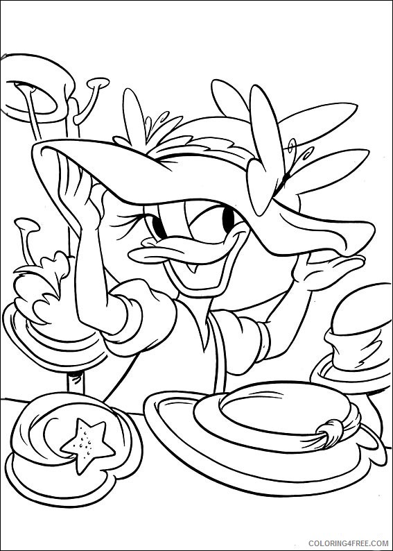 Daisy Duck Coloring Pages Printable Coloring4free