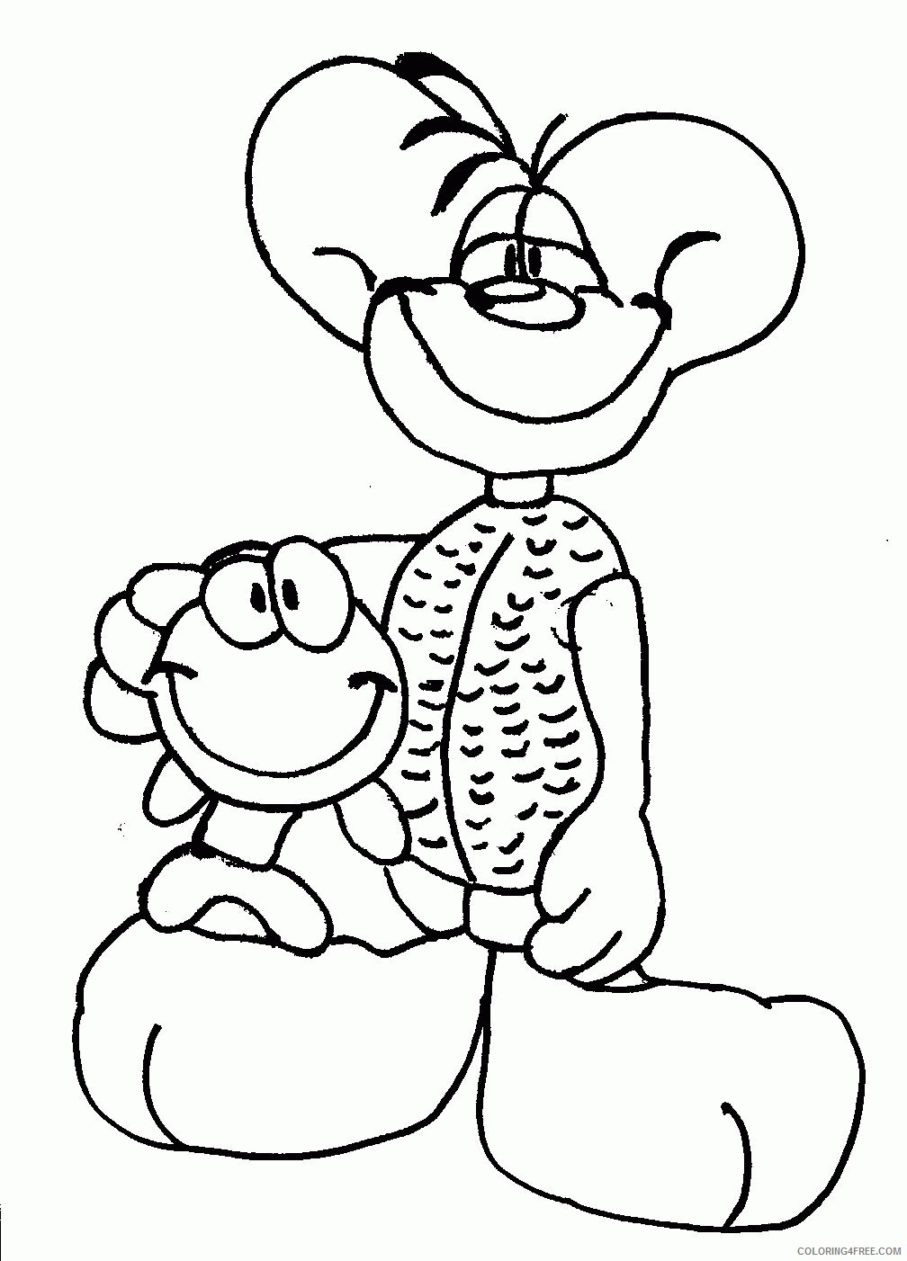 Diddl Coloring Pages Printable Coloring4free
