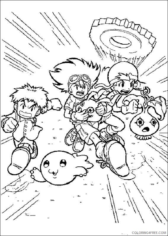 Digimon Coloring Pages Printable Coloring4free