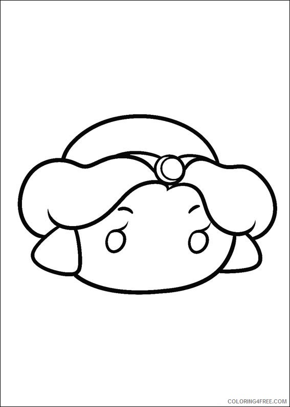 Disney Tsum Tsum Coloring Pages Printable Coloring4free