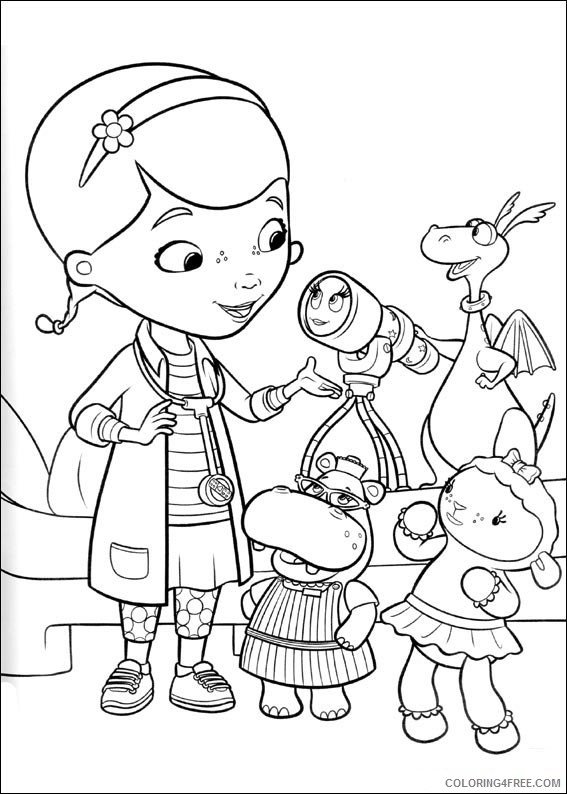 Doc McStuffins Coloring Pages Printable Coloring4free