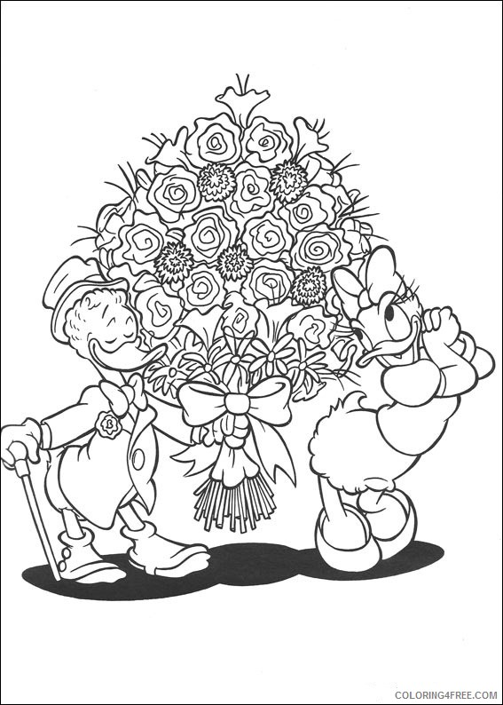 Donald Duck Coloring Pages Printable Coloring4free