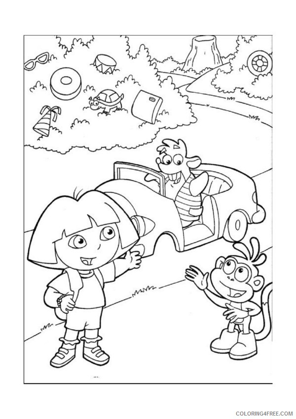 Dora the Explorer Coloring Pages Printable Coloring4free