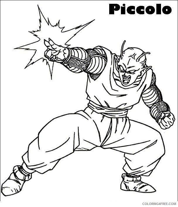 Dragon Ball Z Coloring Pages Printable Coloring4free