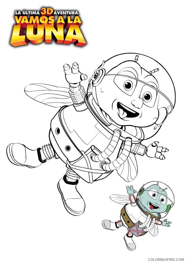 Fly Me to the Moon Coloring Pages Printable Coloring4free