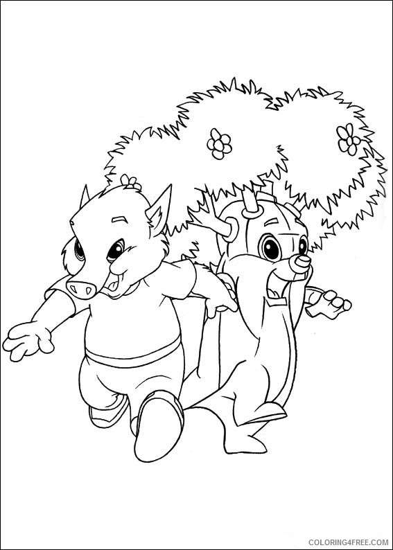 Forest Friends Coloring Pages Printable Coloring4free