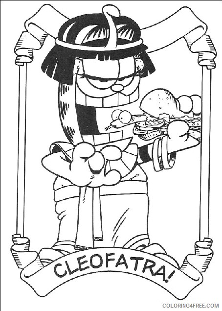 Garfield Coloring Pages Printable Coloring4free