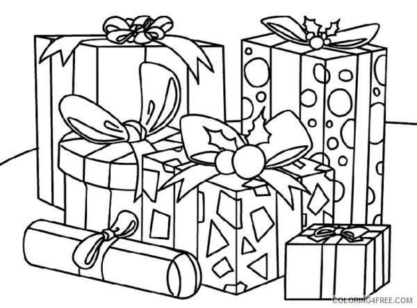 Gifts Coloring Pages Printable Coloring4free
