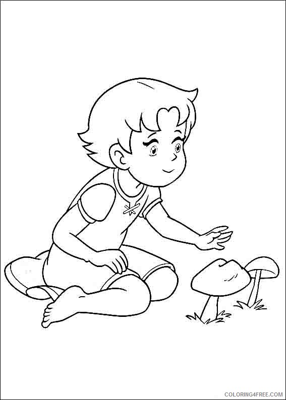 Heidi Girl of the Alps Coloring Pages Printable Coloring4free