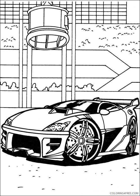 Hot Wheels Coloring Pages Printable Coloring4free