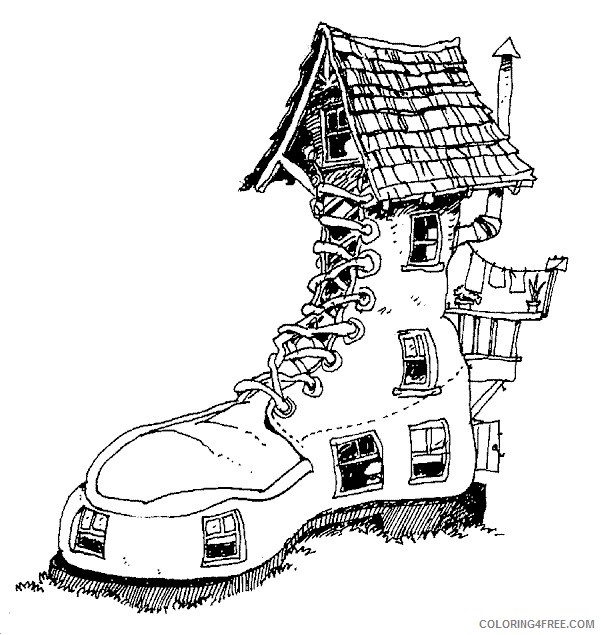 House Coloring Pages Printable Coloring4free