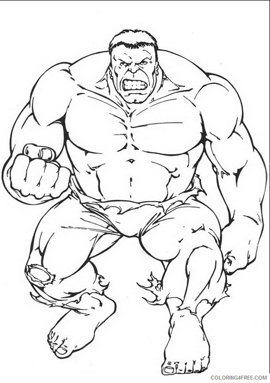 Hulk Coloring Pages Printable Coloring4free