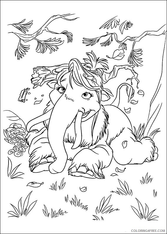 Ice Age Coloring Pages Printable Coloring4free