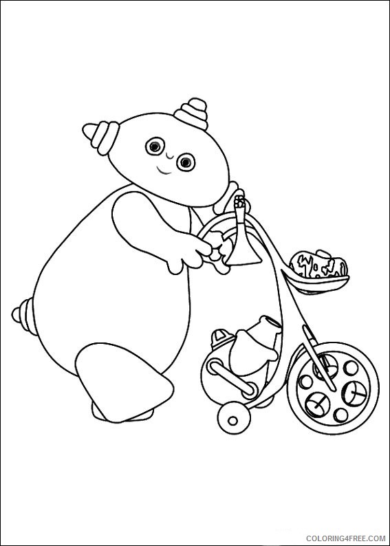 In the Night Garden Coloring Pages Printable Coloring4free