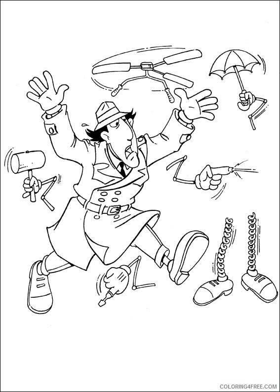 Inspector Gadget Coloring Pages Printable Coloring4free
