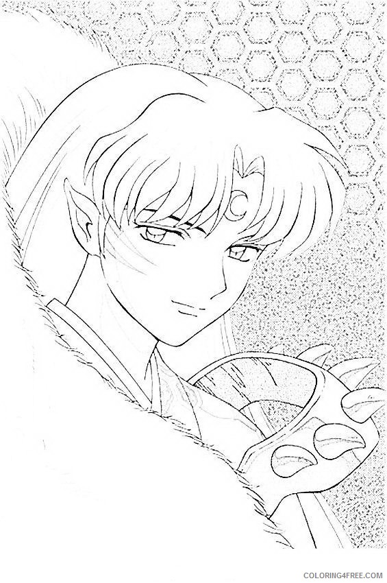 Inuyasha Coloring Pages Printable Coloring4free