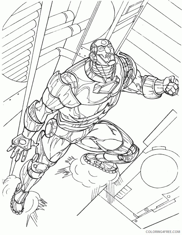 Iron Man Coloring Pages Printable Coloring4free