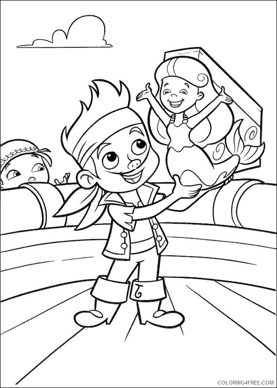 Jake and the Never Land Pirates Coloring Pages Printable Coloring4free