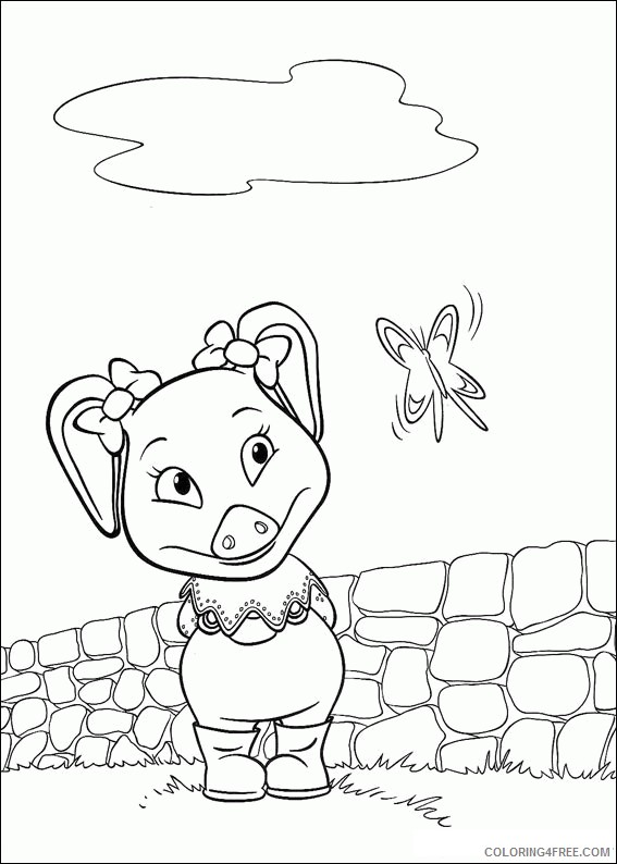 Jakers The Adventures of Piggley Winks Coloring Pages Printable Coloring4free