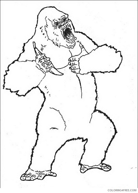 King Kong Coloring Pages Printable Coloring4free
