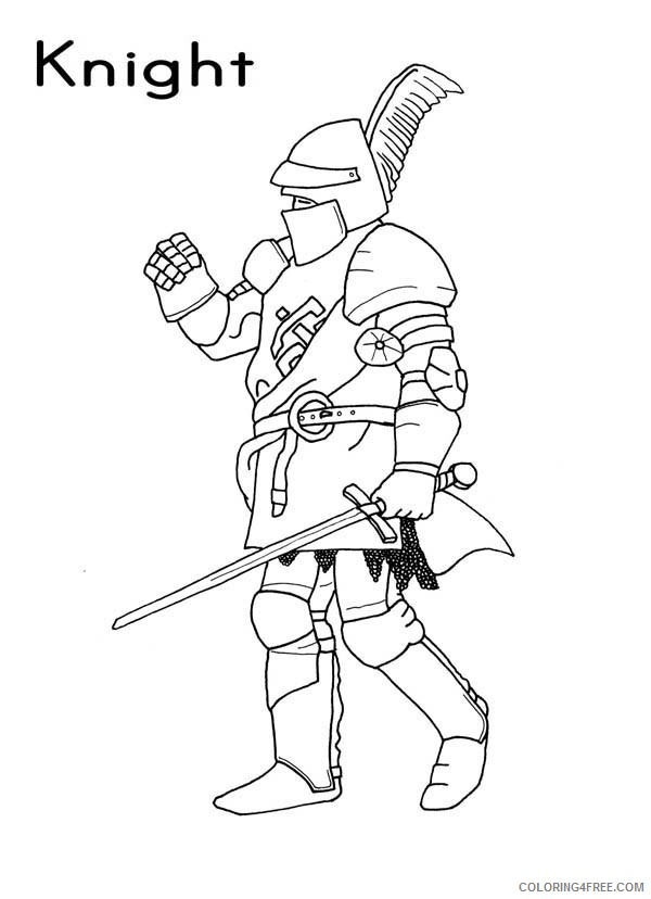 Knights Coloring Pages Printable Coloring4free